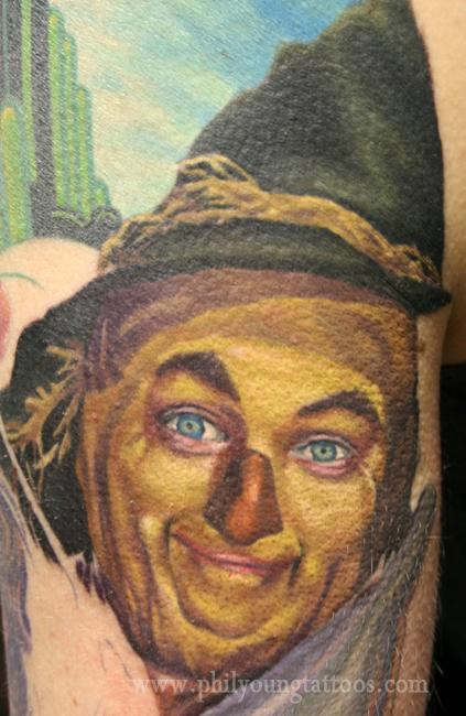 Phil Young - Scarecrow tattoo